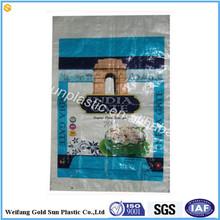 2015 cheap fashion eco-friendly recycled laminated polypropylene plastic tote shopping pp woven bag rice bag grain bag