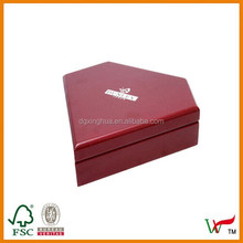 speical diamond-shape wooden gift box for jewelry and ring