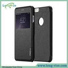 Rock Uni Series Window View Flip Leather Case for iPhone 6 Plus