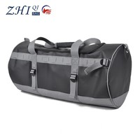OEM large plain and vintage durable waterproof pvc leather duffel bag for gym