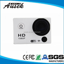 Wide range of accessories optional 2.0 inch display remote control action cam with wifi