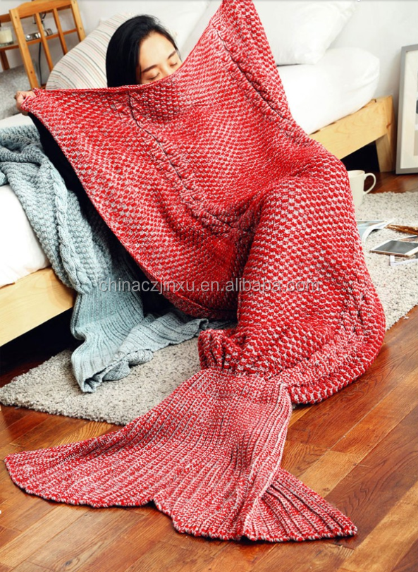 Beb crian as handmade crocheted sereia cauda cocoon - Cobertor para sofa ...