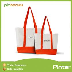 Pinter bags direct manufacturer Yi wu 2015 promotional fashion recyclable shopping cotton bag