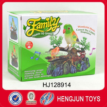 promotion toy plastic animal sound control birds with light and music for kids gift
