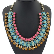 Wholesale women gold filled turkish bead jewelry necklace