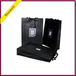 black custom made paper bag for craft packing