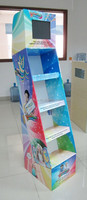 Free Standing Cardboard Floor Display Stand For Toys
