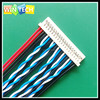 flat cable 30pin to 40 pin AWG 26 AMP connector braided wire cable assembly