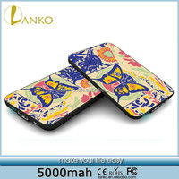 Flower Butterfly 5000mah portable charger portable mini power bank