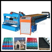 ce certification step tiles roof plate making machine, double layer metal roofing glazed forming machine
