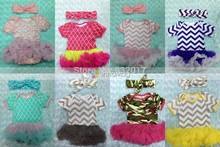 2015 new baby cotton rompers with tutu dress tutu rompers long sleeve girls jumpsuits with matched headband set