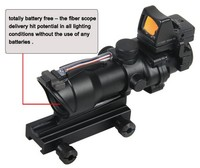 Fiber scope with mini red dot sight 4x32 ACOG riflescope 4x32