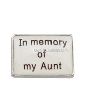 In memory of my Aunt floating charms locket wholesale