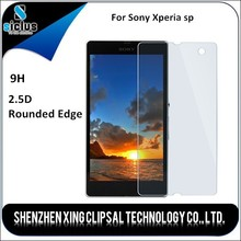 Ultra thin anti-shatter anti-shock Shenzhen factory 9H hardness 2.5D tempered glass screen protectors for Sony Xperia sp