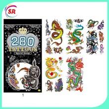 2015 new waterpoof body temporary tattoo sticker dragon design