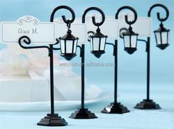 wedding decoration-black Streetlight/ street lamp place card holder