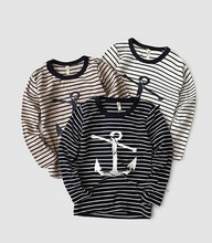 2015 top children clothings little boys stripes t-shirt with arrows