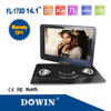 14.1'' TFT Portable DVD Player With TV/VGA/FM/USB/MPEG4/GAME/Card Reader