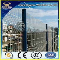 50x200mm PVC coated welded mesh fence wire panel for garden fence