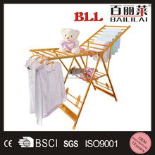 Floor standing Wing Shaped Clothes Drying Rack Double arm Foldable Clothing Racks