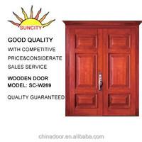 wholesale china factory plain solid wood doors