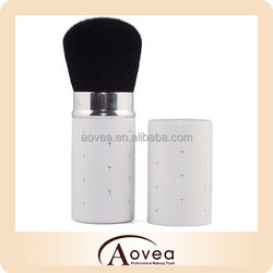 Retractable Powder brush cosmetic brush Face Brush with Diamond Crystals