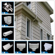 Pvc roof gutter accessories,not a rain drop loss