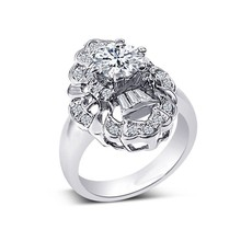 New Desig 3 carat diamond solitaire ring with AAA cubic zircon