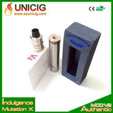 Unicig 2014 hot sale newest design Mechanical MOD vaporizer mutation x mod with 18 holes to adjust airflow
