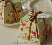 Mousse / bolo embalagem caixa de papel com fita