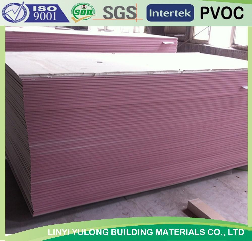 Fire Resistant Gypsum Board ~ Fireproof fire resistance gypsum drywall board plaster