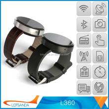 2015 New arrivel L360 Smart watch for adult smart phone in China bluetooth smart watch for gift in China Valentine's Day gift