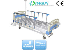DW-BD162 hospital bed mattress cover with two function manual bed for sale from dragon worldwide
