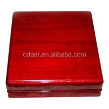 square unique wooden video jewelry box