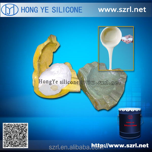 Molding silicone rubber material for plaster statues molds