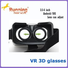 2015 Newest 3d Glass VR Plastic Edition Head Mount Active Oculus Rift for 3.5~6inch smartphone