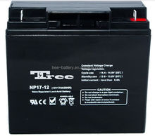 Maintenance free AGM 12v 17ah battery rechargeable sealed lead acid battery