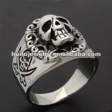 stainless steel R30459 2012 Hot Fashion Bird Skull Ring