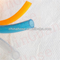 """1/2"""" No Smell, Non-toxic FDA Food Grade Water Fibre Hose, Clear Orange color Netting Braided Tubing"""