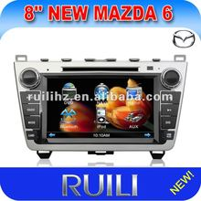 Hot sell 2 din Car GPS for mazda 6 with TV/AM/FM/Ipod