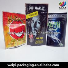 custom printed plastic pouches herbal incense stick bag