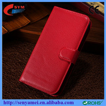 Luxury leather wallet case wholesale case cover for alcatel one touch pop c7