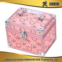 2pcs aluminium cosmetic case, beautiful jewelry case with lock, waterproof photo album suitcase
