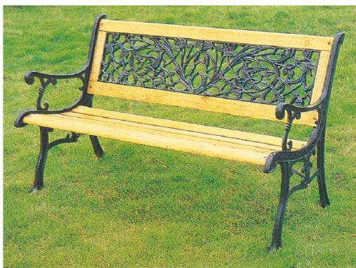 iron wood bench 1