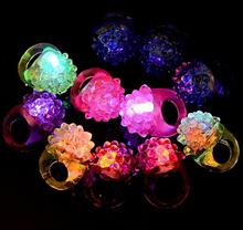 LED Flashing Light Up Eyeball Jelly Rings Party Rave Fashion Favors Glow