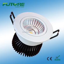 9W COB led downlight recessed mounted by spring