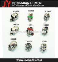 popular skull beads/metal silver skull beads for paracord bracelet