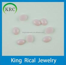 Loose opal pink nano gems 13*10*3mm oval cabochon gemstones