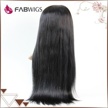 "Fabwigs FH019 Fast Delivery Best Quality Grade 5A 20"" #1B Virgin 80% to 200% Density Indian Human Hair Full lace Wig"