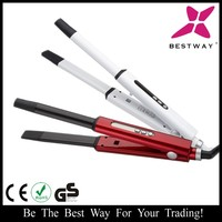 2 in 1 Hair Styler with Straightener and Curling Functions